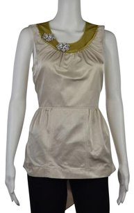 Vera Wang Lavender Label Top Ivory
