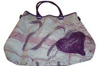Vera Wang Tote in Purple and white
