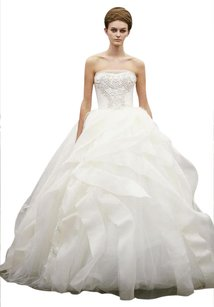 Vera Wang White/Ivory Liesel Wedding Dress Size 4 (S)
