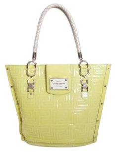 Versace Gianni Couture Chartreuse Iconic Vintage Quilted Tote in Green