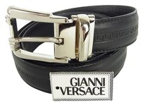 Versace Auth GIANNI VERSACE Logos Belt for Men Size110-44 Black UNUSED F/S 7011eRN