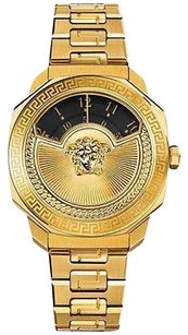 Versace Limited Edition Womens Versace Dylos Gold Tone Stainless Steel Watch Vqu050015