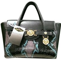Versace Gianni Handbag Watersnake Embossed Max066413 Shoulder Bag