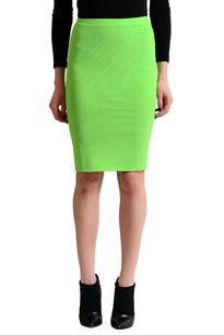 Versace Straight Pencil Skirt Bright Green