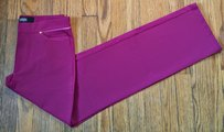 Versace Stretchy Couture Night Out Date Night Straight Pants Dark Pink