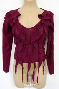 Versace Jeans Couture Italy Top Burgundy