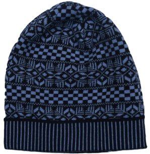 Versace Versace Blue Knitted Beanie Wool Hat