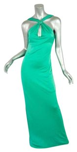 Greens Maxi Dress by Versus Versace Long Jeweled Halter Maxi Gown Evening