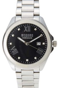 Versus Versace Silver-Tone & Black Watch