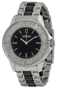 Versus Versace Versus by Versace Tokyo Crystal Black Dial Two-tone Ladies Watch