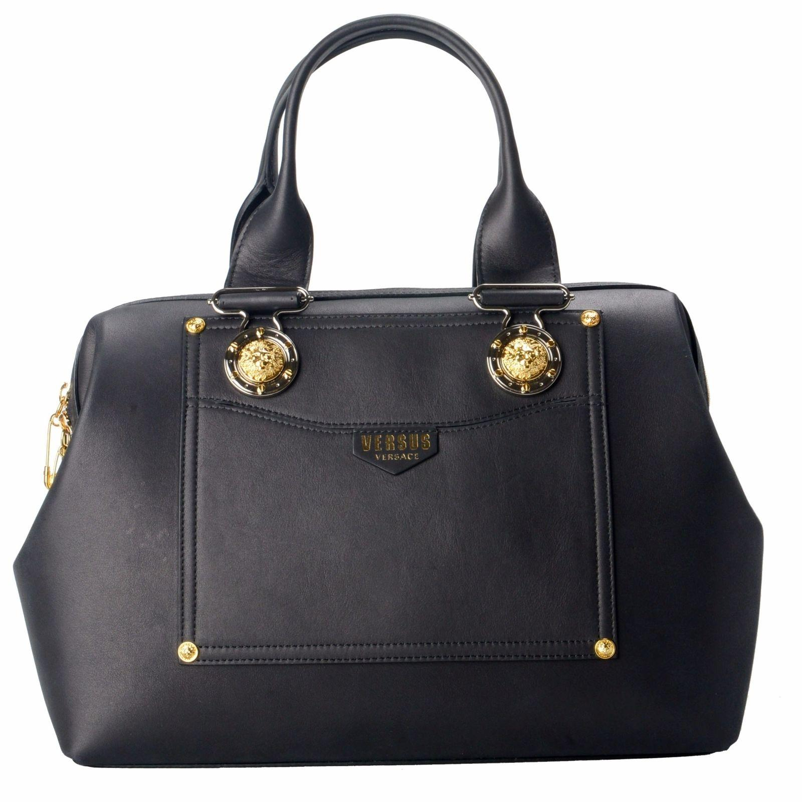 Versace Black leather bag 3X73HEP