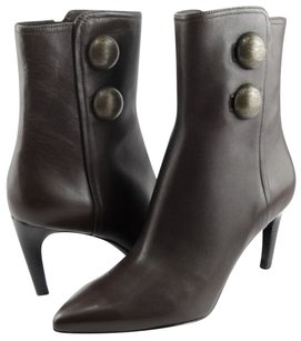 Via Spiga Hanne Leather Womens Designer Pointed Toe Ankle Chestnut Boots