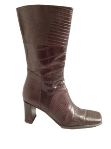 Via Spiga Leather Mid-calf Brown Boots