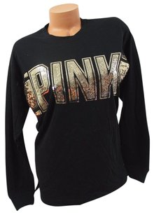 Victoria's Secret Victorias Pink Bling T Shirt Black