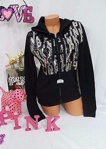 Victoria's Secret Pink Bling Silver Sequin Sweatshirt
