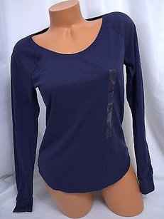Victoria's Secret Victorias Pink Solid T Shirt Blue