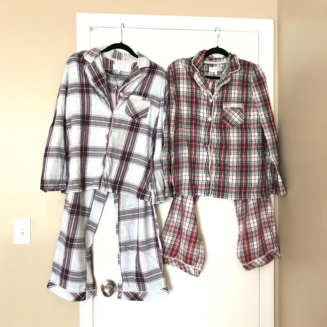 Victoria 39 s secret 2 pairs of pajamas button down shirt on for Victoria secret button down shirt