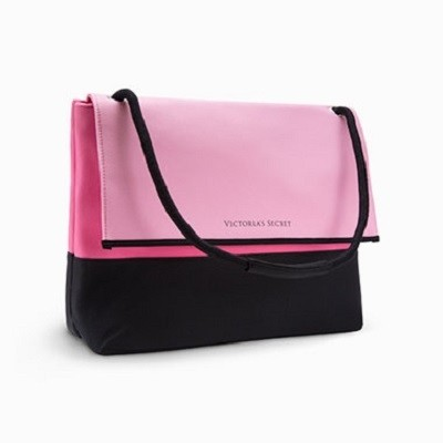 Victoria's Secret Lined Neoprene Beach Cooler Pink Tote Bag ...