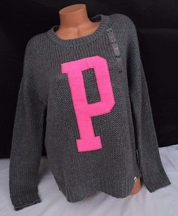 Victoria's Secret Pink Limited Edition Wool Blend Knit P Sweater