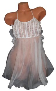 Victoria's Secret Designer Collection SILK Lace Babydoll Teddy Ivory Small $128