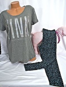 Victoria's Secret Victorias Pink T Shirt Gray