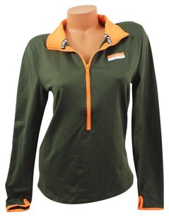 Victoria's Secret Pink Multimate Pullover Olive Orange Trim Sweatshirt