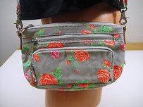Victoria's Secret Victorias Secretpink Swingpack Orange Peach Rose Flower Cross Body Bag