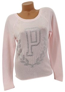 Victoria's Secret Xslight Slouchy Sweater Rhinestone Crest P On Sweatshirt