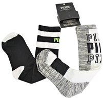 Victoria's Secret Victorias Secret Pink 2pr Knee High Socks One Size Marled Gray Blackwhite