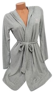 Victoria's Secret Victorias Secret Hooded Monogram Robe Soft Modal Robe Gray Pink Vs Logo