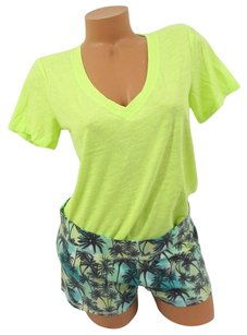 Victoria's Secret Victorias Secret Love Pink Settee-jama Sleep Tee Shorttropicalyellow