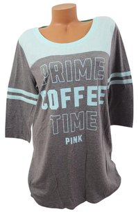 Victoria's Secret Victorias Secret Pink Lprime Coffee Timepajama Sleep Shirt Mint Bluegray