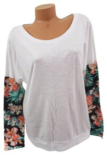 Victoria's Secret Pink Dolman Palm T Shirt White