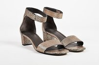 Vince Gray Metallic Rose Gold Sandals