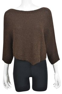 Vince Womens Boat Neck Textured Baby Alpaca Casual Sweater