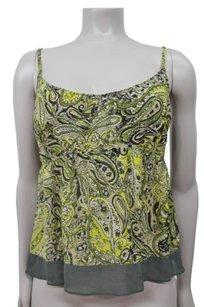 Vince Olive Green Silk Top Olive,multi