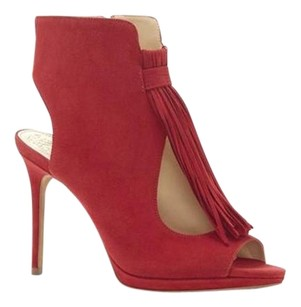 Vince Camuto Abigalla Tassels RUBY RED KIDSUEDE Boots