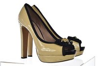 Vince Camuto Womens Beige Pumps Heels Beaded Multi-Color Platforms