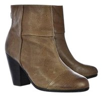 Vince Camuto Womens Ankle 6m36 Textured Leather Heels Brown Boots