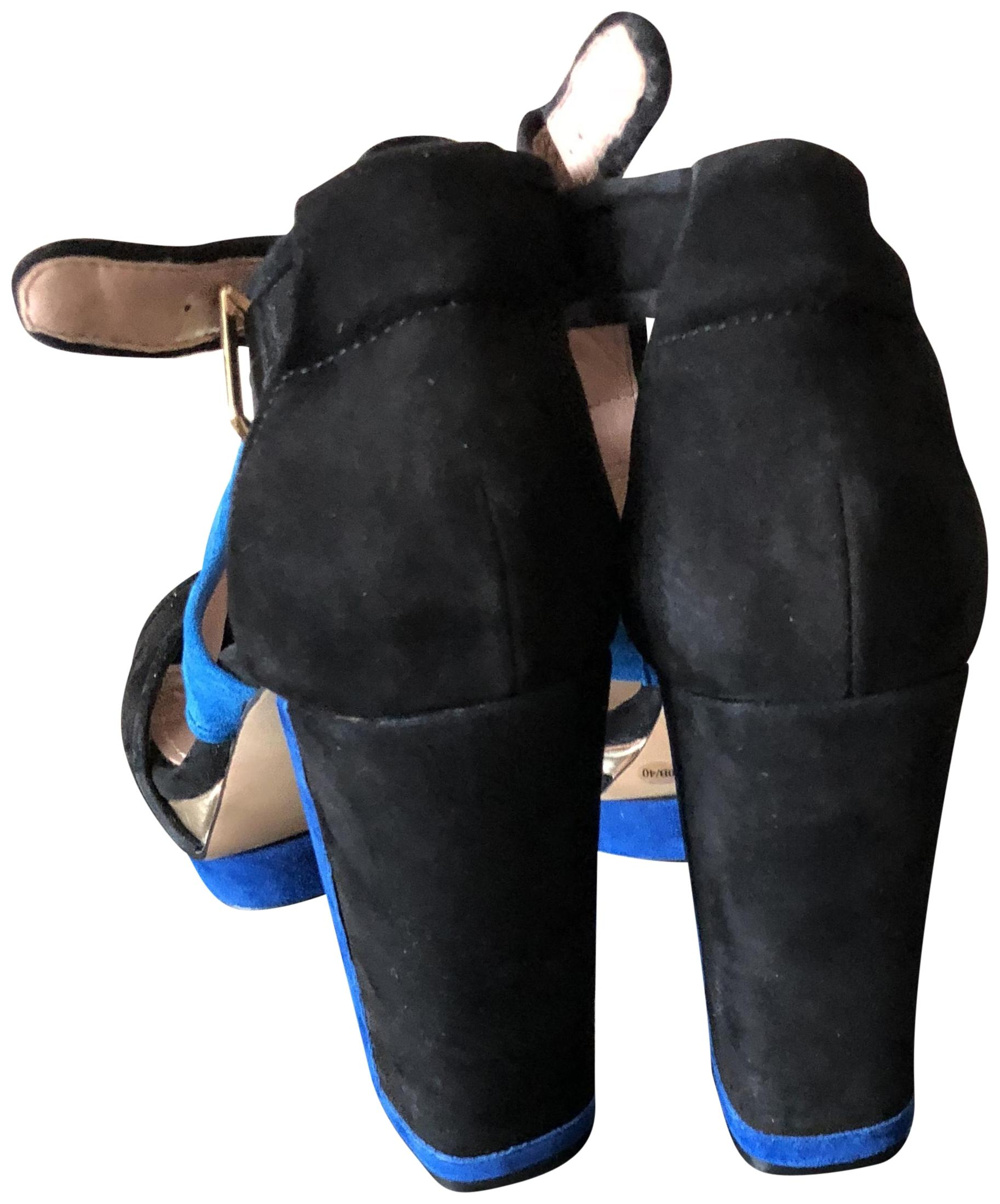 70088cf03791 Vince Camuto Blue Black True Sue Mirror Met Platforms Size US 10 10 10  Regular (M