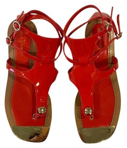 Vince Camuto Gladiator Sandal Patent Orange Sandals