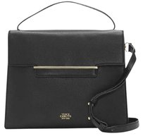 Vince Camuto Leather Aster Crossbody Satchel in Black