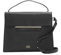 Vince Camuto Leather Aster Satchel in Black