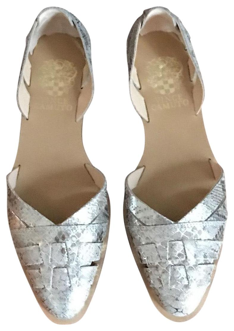 Vince Camuto Embossed Metallic Flats fashion Style for sale low price fee shipping cheap online cheap best SwfZBXq0us