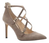 Vince Camuto Neddy Crosscross Buckle STONE TAUPE TRUE SUEDE Pumps