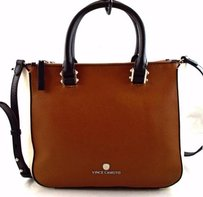 Vince Camuto Leather Nona Satchel in Brown