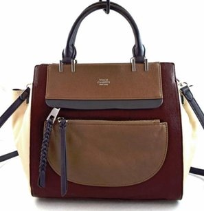 Vince Camuto Leather Ayla Satchel in Brown