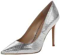 Vince Camuto Snake Pointed Toe Metallic Silver Pumps