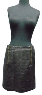 Vince Camuto Two By Double Front Zipper Straight 2546a Skirt Black