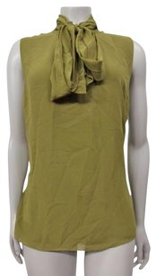 Vince Camuto Tie Neck Sleeveless Tank Top Olive